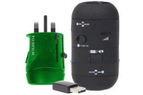 Fujifilm Travel Kit inc Single USB WorldTrip Adapter Charger & Black Speakers