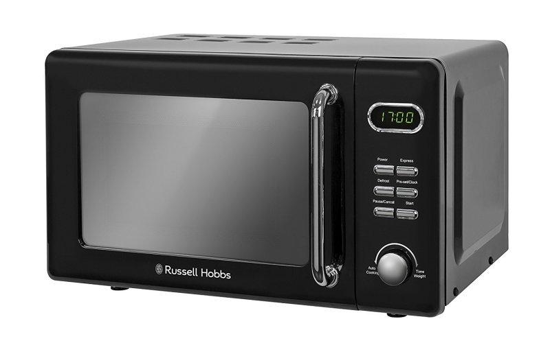 Russell Hobbs RHRETMD706B Retro 17 Litre Black Digital Microwave