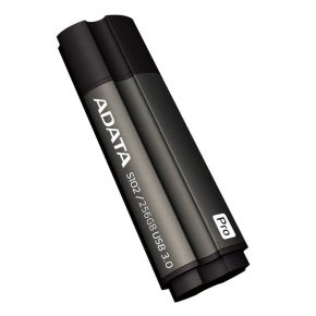 ADATA S102 Pro Advanced - USB flash drive - 256 GB - USB 3.0 - titanium grey