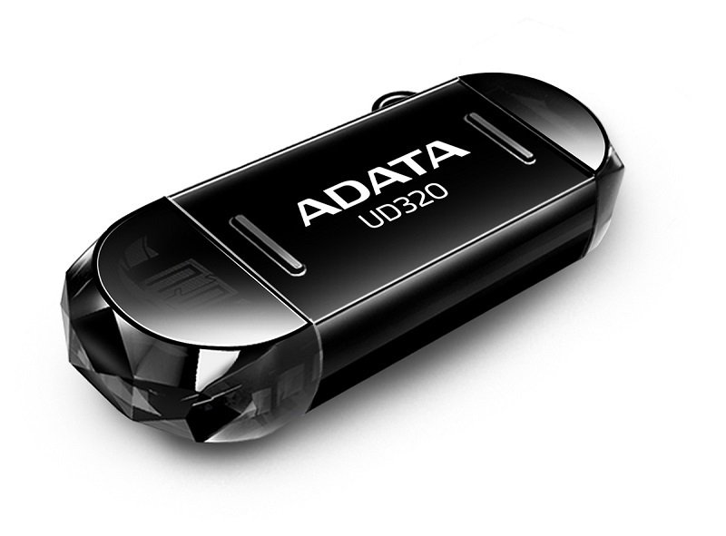 ADATA DashDrive Durable UD320 - USB flash drive - 64 GB - USB 2.0 - black
