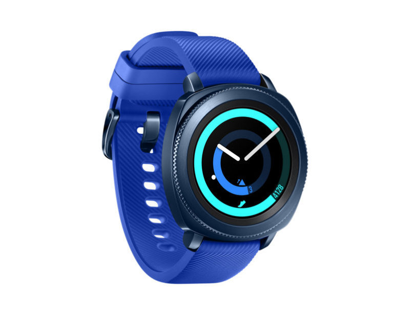 Samsung Gear Sport SM-R600 - 43 mm - blue - smart watch with strap - silicone - blue - 1.2 - L - 4 GB - Wi-Fi, NFC, Bluetooth - 67 g