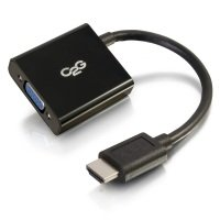HDMI Male to VGA Female Adapter Converter Dongle - 20cm / black