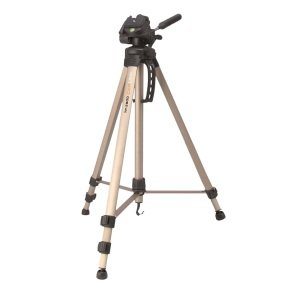 Camlink TP2100 3 Section 3 Way Pan Tilt Head Tripod + Case Max Height 57 Inches
