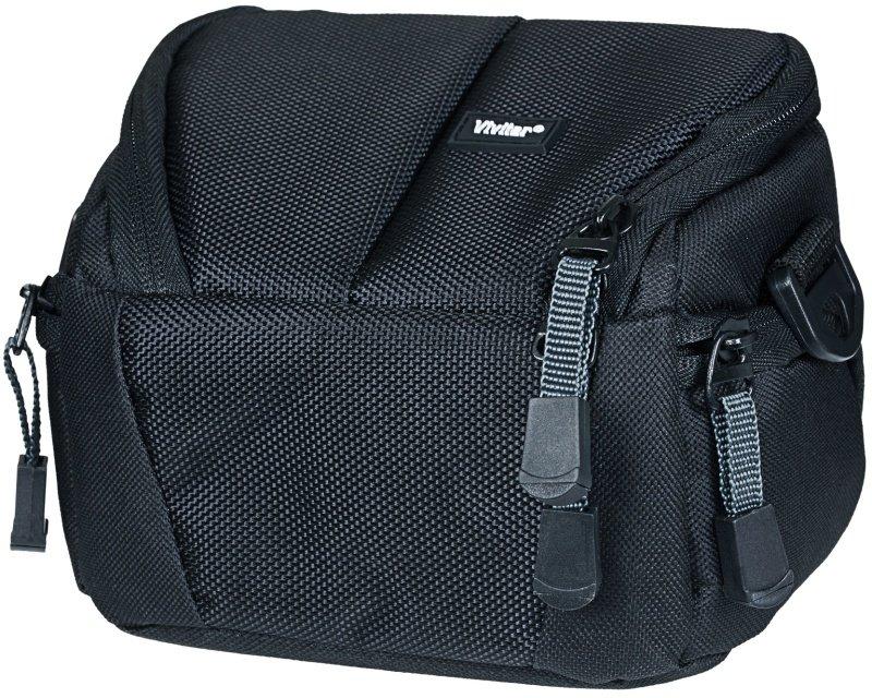 VIVITAR VIV-DKS-6 Black Bridge Camera Camcorder Case Bag