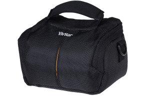 VIVITAR VIV-TSC-6 Black Bridge Camera Camcorder Case Bag
