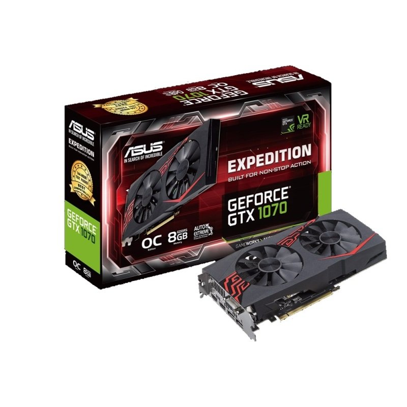 ASUS Expedition GeForce GTX 1070 OC edition 8GB GDDR5 Graphics Card
