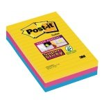 Post-it Super Sticky XXL Notes Rio 102 x 152mm (3 Packs of 3) 3M811254