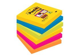 Post-it Super Sticky Notes 76mmx76mm Asstd - Pk6