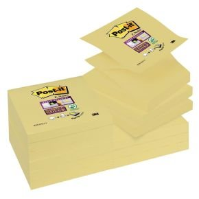 Post-it 654 Super Sticky Canary Ylw - 12 Pack