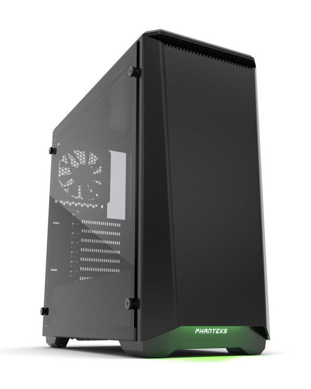 Phanteks Eclipse P400S Glass Midi Tower Case - Noise Dampened Black