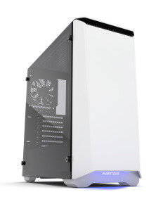 Phanteks Eclipse P400S Glass Midi Tower Case - Noise Dampened White