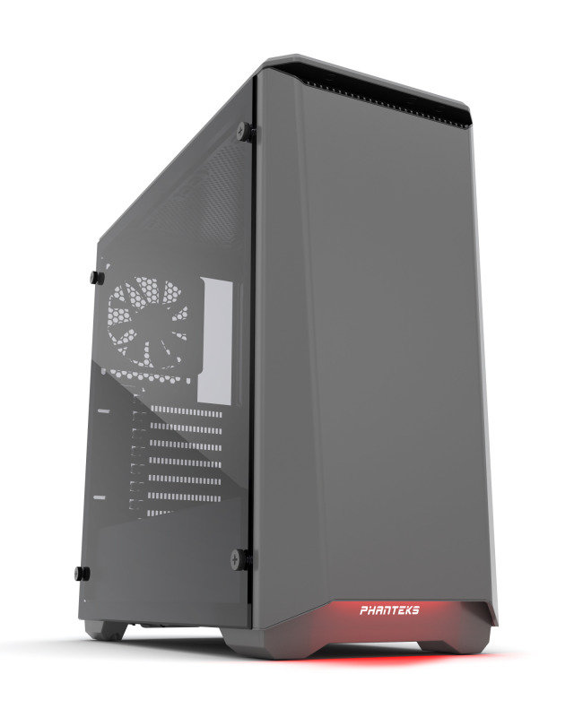 Phanteks Eclipse P400S Glass Midi Tower Case - Noise Dampened Gun Metal