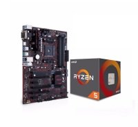 Asus AMD PRIME B350-PLUS Motherboard and AMD Ryzen 5 1500X Processor Bundle