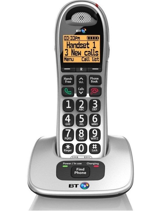 Image of BT 4000 Big Button Single Cordless phone