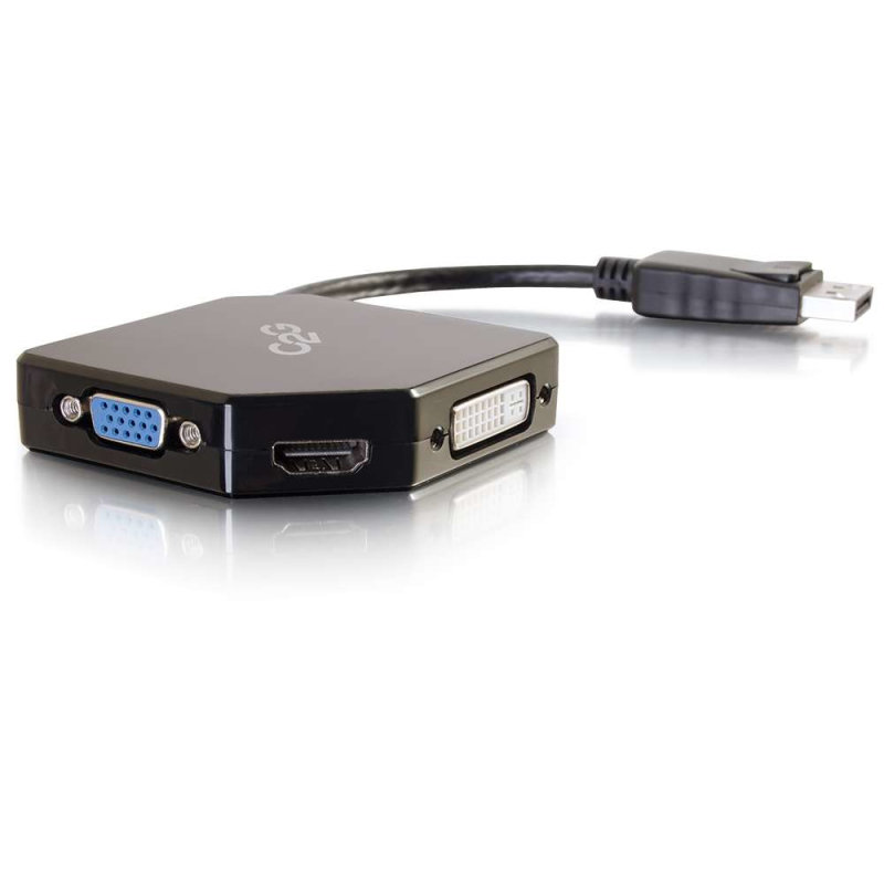 DisplayPort to HDMI, VGA, or DVI Adapter Converter