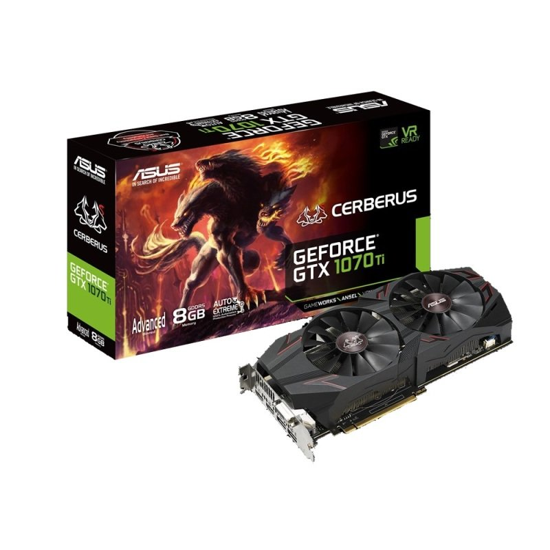 Asus GeForce GTX Cerberus 1070 Ti 8GB GDDR5 Graphics Card
