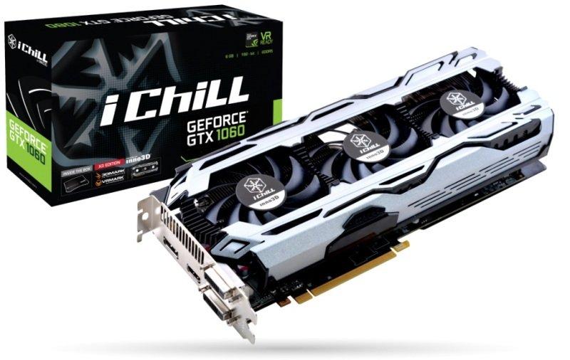 Inno3D ICHILL GEFORCE GTX 1060 6GB X3 V2 GDDR5 Graphics Card