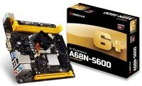 Biostar A68N-5600 Ver. 6.5 AMD Integrated CPU mITX Motherboard