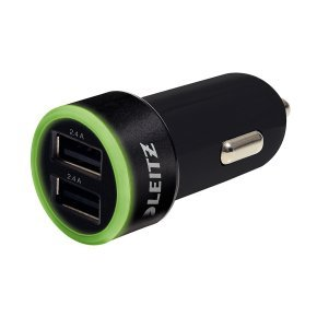 Leitz Universal USB Car Charger Dual 62220095