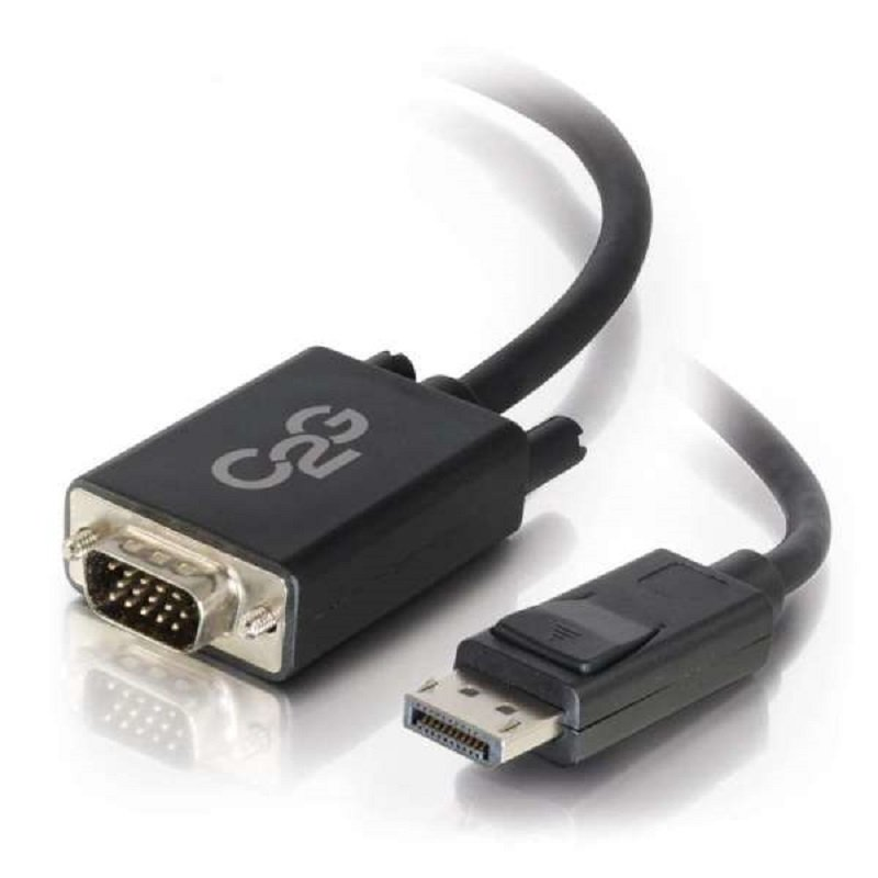 C2G 3m DisplayPort Male to VGA Male Adapter Cable - Black