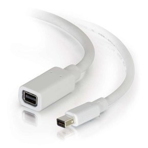 3m Mini DisplayPort Extension Cable M/F - White