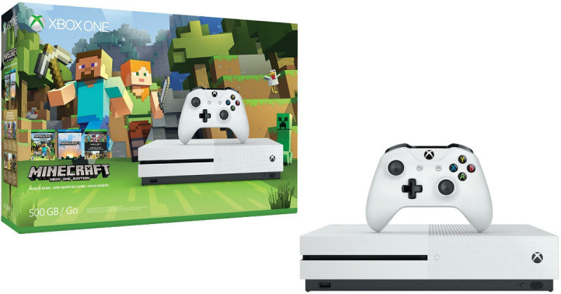 Image of Xbox One S 500GB with Minecraft