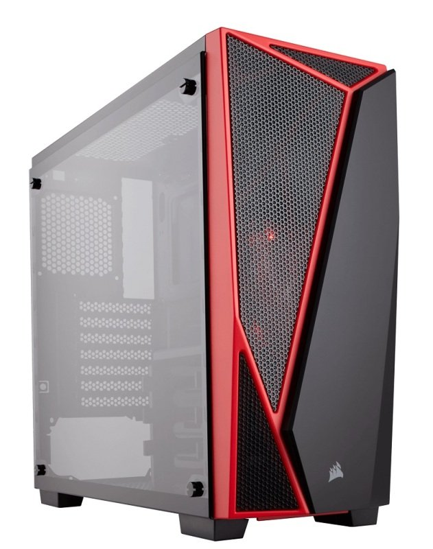 Corsair Carbide Series SPEC-04 Tempered Glass Mid-Tower Gaming Case Black/Red