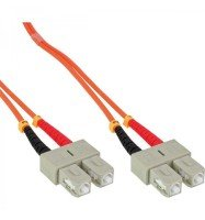 C2G, SC/SC LSZH Duplex 62.5/125 Multimode Fibre Patch Cable, 1m