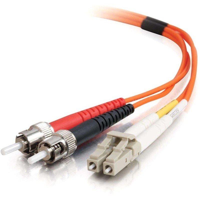 C2G, LC/ST LSZH Duplex 62.5/125 Multimode Fibre Patch Cable, 10m