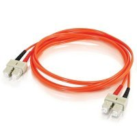 C2G, SC/SC LSZH Duplex 50/125 Multimode Fibre Patch Cable, 1m