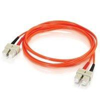 C2G, SC/SC LSZH Duplex 50/125 Multimode Fibre Patch Cable, 3m