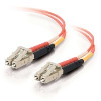 15m LC-LC 62.5/125 OM1 Duplex Multimode PVC Fibre Optic Cable (LSZH) - Orange