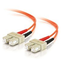 20m SC-SC 50/125 OM2 Duplex Multimode PVC Fibre Optic Cable (LSZH) - Orange