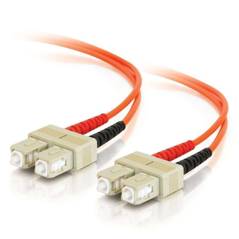 C2G SC-SC 50/125 OM2 Duplex Multimode PVC Fiber Optic Cable (LSZH) - Network cable - SC multi-mode (M) - SC multi-mode (M) - 30 m - fibre optic - 50 / 125 micron - OM2 - halogen-free - orange