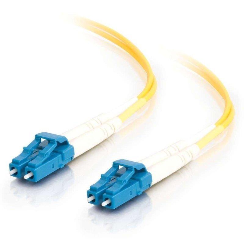 10m LC-LC 9/125 OS1 Duplex Singlemode PVC Fibre Optic Cable (LSZH) - Yellow