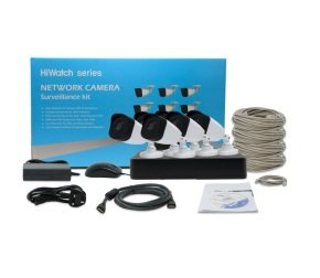 HiWatch T108Q-A-2T CCTV kit with 6 bullet cameras.