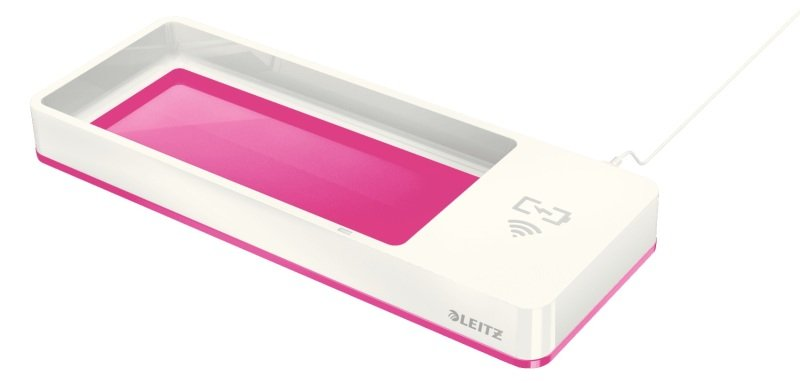 Leitz WOW Desk Organizer Wireless Charging - Pink