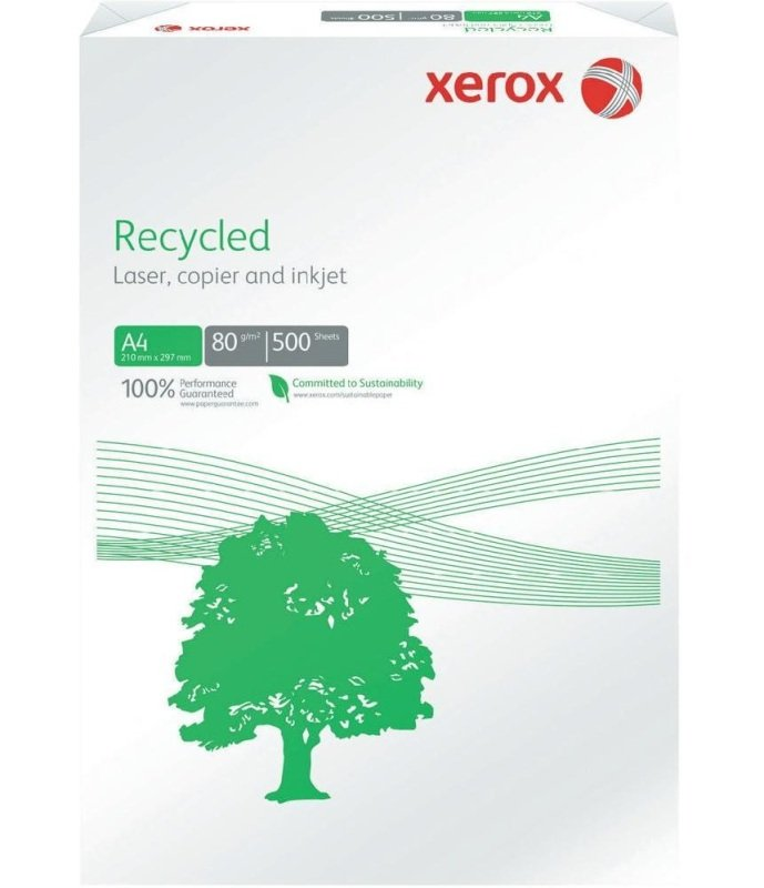 Xerox Recycled A4 80gsm Off White Paper - 500 Sheet Ream