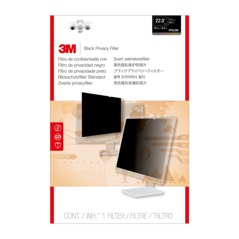 """Image of 3M Privacy Filter for 22"""" Widescreen Monitor"""