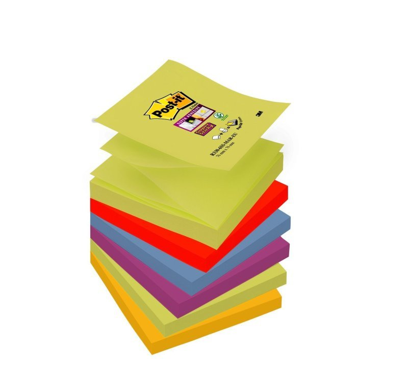 PPost-it Super Sticky Z-Notes 76 x 76mm Marrakesh Collection (Pack of 6) R330-6SS-MAR-EU