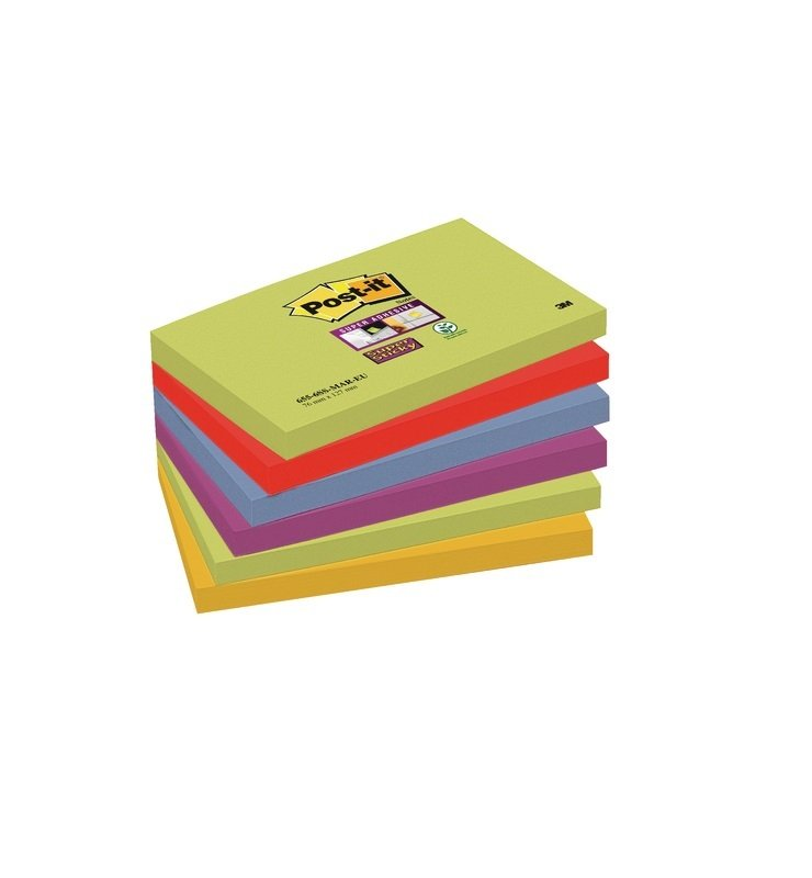 Post-it Super Sticky 76x127mm Marrakesh Notes (Pack of 6) 654-6SS-MAR-EU