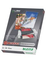 Leitz - 100 - glossy, Crystal Clear - A4 (210 x 297 mm) lamination pouches