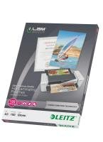 Leitz - 100 - glossy, Crystal Clear - A3 (297 x 420 mm) lamination pouches (laminating consumables)