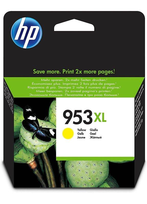 HP 953XL Yellow OriginalInk Cartridge - High Yield 1600 Pages - F6U18AE