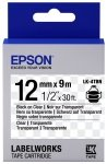 Epson Label Cartridge Transparent LK-4TBN Black/Transparent 12mm (9m)