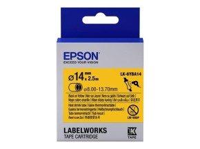 Epson Label Cartridge Heat Shrink Tube (HST) LK-6YBA14 Black/Yellow D14mm (2.5m)