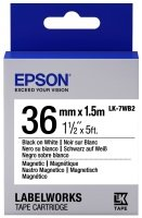 Epson Label Cartridge Magnetic LK-7WB2 Black/White 36mm (1.5m)