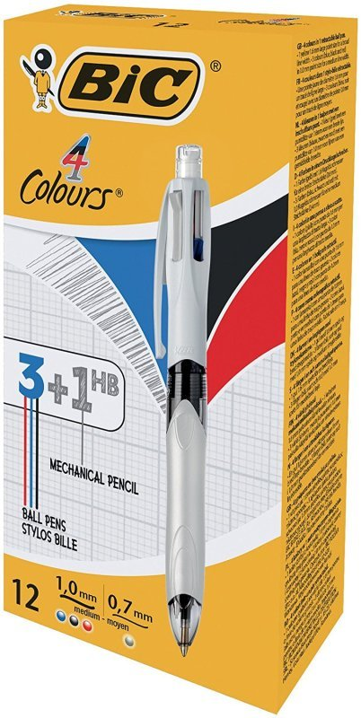 Bic 4 Colours Ballpoint Pen and Mechanical Pencil - 942104