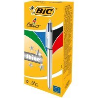BIC 4 Colour Shine Assorted (Pack of 12) 919380