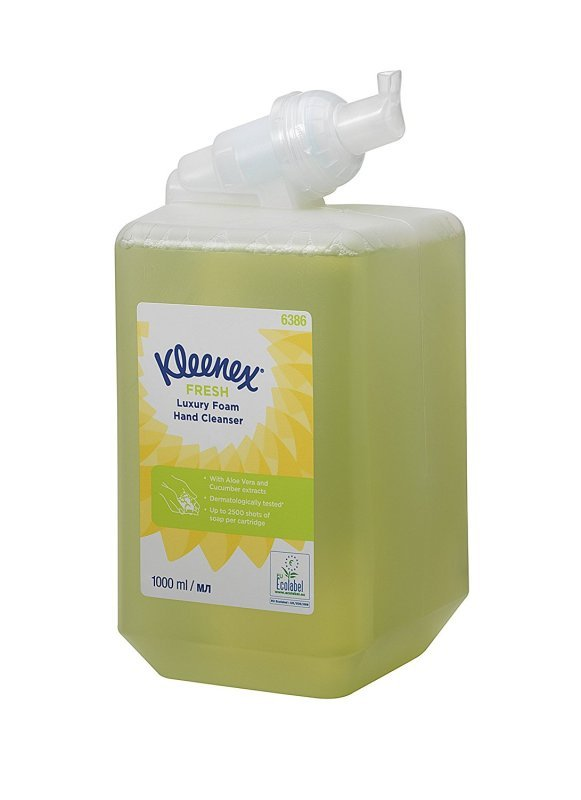 Kleenex Fresh Luxury Foam Hand Cleanser 1 Litre Cartridge 6386